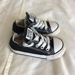 Black Toddler Converse | Size 5